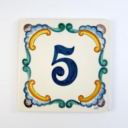 Azulejo Número