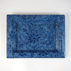 Fuente Floral Azul