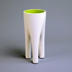Fennel White & Green Vase