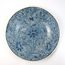 Plato Floral Azul